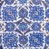 Macromening van tegels in Rustem Pasa Mosque, Istanboel Royalty-vrije Stock Afbeeldingen