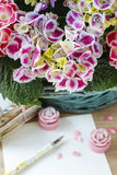 Macrophylla da hortênsia (flor do hortensia) Fotos de Stock Royalty Free