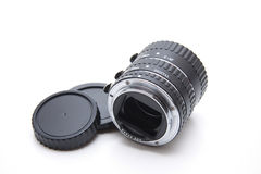Macrorings for camera. On white background Royalty Free Stock Photo