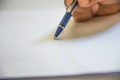 Macroshot сигнала, писать на бумаге стоковое фото rf