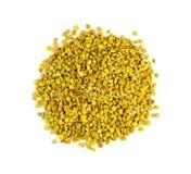 Macrostapel van organisch, natuurlijk stuifmeel van bijen, bijenstuifmeel Royalty-vrije Stock Foto's