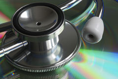 Macroview of the stethoscope Royalty Free Stock Photography