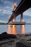 Mactan bro Arkivbild