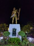 Mactan Shrine with Lapulapu. Monument of Lapulapu,  one of Philippines' heroes,  at Mactan Shrine,  LapuLapu City Cebu Philippines Stock Images
