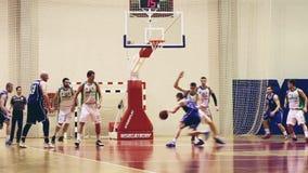 Macth di pallacanestro stock footage