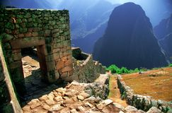 Macu Picchu Ruins stock photo