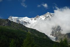 Macugnaga, Italy. View of Monte Rosa Stock Photos