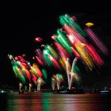 Macy 4ου των πυροτεχνημάτων Ιουλίου στοκ φωτογραφίες