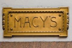 Σημάδι Macy Στοκ Εικόνες