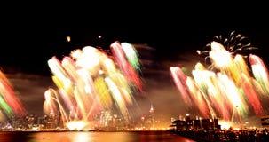 Macy 4to de los fuegos artificiales de julio Foto de archivo