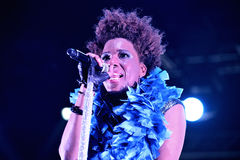 Macy Gray (band) live performance at Bime Festival Royalty Free Stock Images