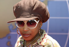 Macy Gray. At the Los Angeles premiere of `Around The World In 80 Days` held at the El Capitan Theater in Hollywood, USA on June 13, 2004 Royalty Free Stock Photography