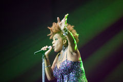 Macy Gray Performance Fotografia Stock