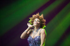 Macy Gray Performance Royaltyfria Bilder