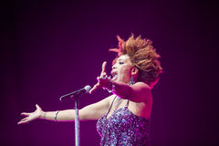 Macy Gray Performance Royaltyfri Fotografi