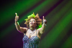 Macy Gray Performance Royalty Free Stock Photography