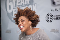 Macy Gray Press Conference Royalty Free Stock Photo