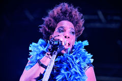 Macy Gray (R&B and soul singer, songwriter, musician, record producer and actress) live performance Stock Photography