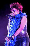Macy Gray ( R&B and soul singer-songwriter, musician, record producer, and actress) live performance at Bime Festival Royalty Free Stock Photos