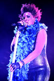 Macy Gray (singer) live performance at Bime Festival Stock Photography