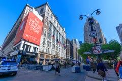 Macy histórico Herald Square en la 34ta calle, NYC Fotos de archivo