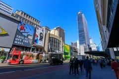 Macy histórico Herald Square en la 34ta calle, NYC Foto de archivo libre de regalías
