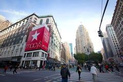 Macy kondigt Vierkant Manhattan aan Stock Afbeelding