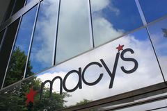 Macy Store Logo. Macys store logo or Sign at Lake Forest Mall in MD. Macy is the largest retailer chain store in US