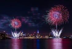 Macy quarto dei fuochi d'artificio di luglio Fotografia Stock
