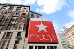 Macy ` s在先驱广场,纽约 库存图片