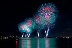 Macy's 4ème des feux d'artifice de juillet Images stock
