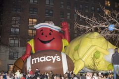 Macy's balloon inflation Royalty Free Stock Photography