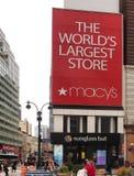 Macy`s billboard Royalty Free Stock Image