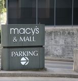 Macy`s at the Dallas Galleria. Macy`s, originally R. H. Macy & Co., is a department store owned by Macy`s, Inc. It is one of two divisions owned by the company Stock Photos