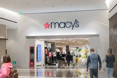 Macy`s is a department store company. Philadelphia, Pennsylvania, May 19 2018: Macy`s is a department store company Stock Photo