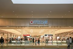 Macy's Department Store. Macy's, Inc. royalty free stock photos