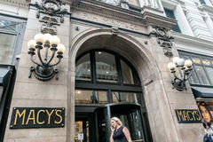 Macy`s department store in Manhattan royalty free stock photography