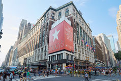 Macy`s department store in Midtown Manhattan, New York. NEW YORK - SEPTEMBER 10: Macy`s department store in Herald Square flagship location in Midtown Manhattan Royalty Free Stock Photo