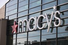 Macy`s Department Store Sign Stock Photos