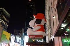 Macy's-Feiertag Windows 2015: Die Erdnuss-Gruppe 41 Stockbild