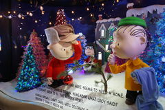 Macy's Holiday Windows 2015:  The Peanuts Gang 11 Royalty Free Stock Photo