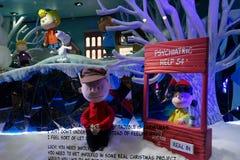 Macy's Holiday Windows 2015:  The Peanuts Gang 19 Stock Photography
