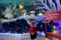 Macy's Holiday Windows 2015:  The Peanuts Gang 20 Royalty Free Stock Photography
