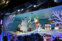 Macy's Holiday Windows 2015:  The Peanuts Gang 22. Since Macy's sparked the Christmas window tradition in the early 1870s, New York City's most iconic Royalty Free Stock Photos