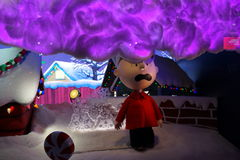 Macy's Holiday Windows 2015:  The Peanuts Gang 27 Stock Photo