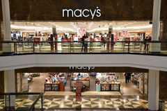 Macy`s at King of Prussia Mall in Pennsylvania Royalty Free Stock Photo