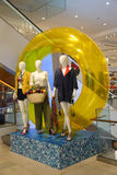 Macy`s presented Celebrate Summer campaign decoration in the Macy`s Herald Square in midtown Manhattan Stock Photography