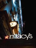 Macy's Sign on Herald Square, New York. Stock Photo