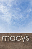 Macy's Store. SALINAS, CA/USA - FEBRUARY 8, 2014: Macy's store vertical image in Salinas California.  Macy's is a  chain of department stores owned by American Stock Images