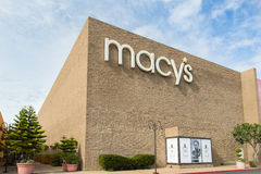 Macy's Store. SALINAS, CA/USA - FEBRUARY 8, 2014: Macy's store in Salinas California.  Macy's is a mid-range to upscale chain of department stores owned by Royalty Free Stock Photography